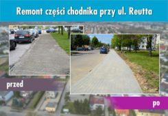 Wyremontowano część chodnika przy ul. Reutta