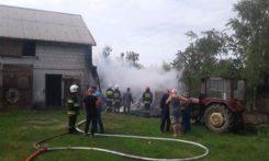Pożar garażu w miejscowości Ojrzeń
