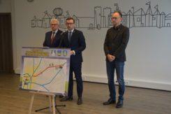 Konferencja na temat wspólnej inicjatywy budowy drogi ze ścieżką rowerową z Ciechanowa do Opinogóry.