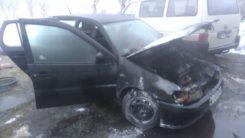 Pożar samochodu w Ciechanowie.