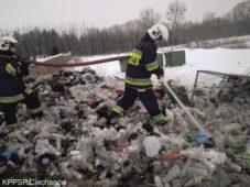 Pożar w pobliżu cmentarza w Glinojecku