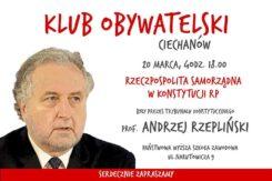 Spotkanie z Prof. Andrzejem Rzeplińskim