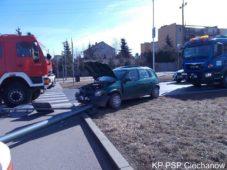 Wypadek na ul. Armii Krajowej w Ciechanowie