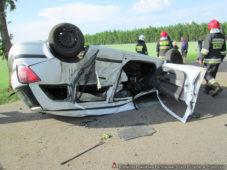 Wypadek na trasie drogi powiatowej Jednorożec – Szla