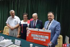 Podpisanie umów oraz wbudowanie kamienia węgielnego pod budowę Centrum Aktywizacji Biznesu