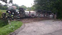 Wypadek cysterny w miejscowości Kondrajec Szlachecki