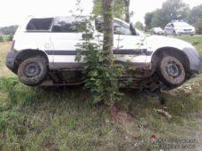 Wypadek z udziałem samochodu osobowego