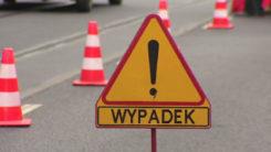 Wypadek drogowy z udziałem motocyklisty