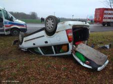 Wypadek samochodu osobowego