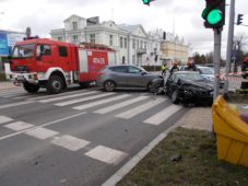 Wypadek na skrzyżowaniu ulic w Ciechanowie