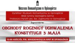 Obchody 3 maja w Muzeum Romantyzmu w Opinogórze