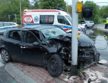 Zderzenie 2 samochodów osobowych