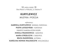 Koncert pt. ,,Kurylewicz muzyka i poezja''