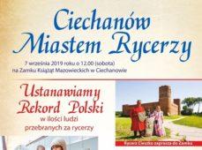 """""""Ciechanów miastem rycerzy"""" z Rekordem Polski"""