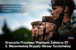 Mazowieccy Terytorialsi po raz piąty w tym roku złożą przysięgę wojskową