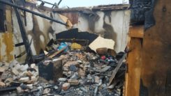 Pożar domu letniskowego