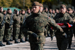 Piąta przysięga wojskowa żołnierzy pełniących terytorialną służbę wojskową w 5 Mazowieckiej Brygadzie Obrony Terytorialnej