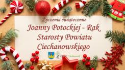 Życzenia świąteczne Starostwa Powiatu Ciechanowskiego (VIDEO)