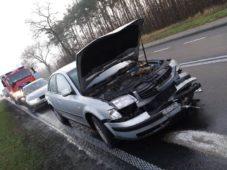 Wypadek dwóch samochodów w m.Ujazdówek