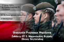 Przysięga wojskowa WOT w Ciechanowie