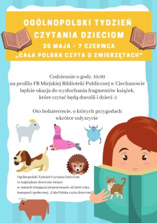 """Miejska biblioteka dołączyła do akcji """"Cała Polska czyta o zwierzętach"""""""