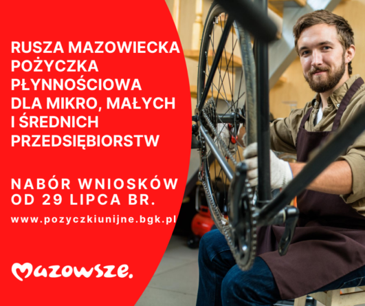 Ruszają preferencyjne pożyczki dla MŚP z Mazowsza