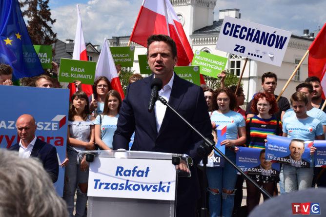 Wizyta Rafała Trzaskowskiego - kandydata PO na Prezydenta RP w Ciechanowie