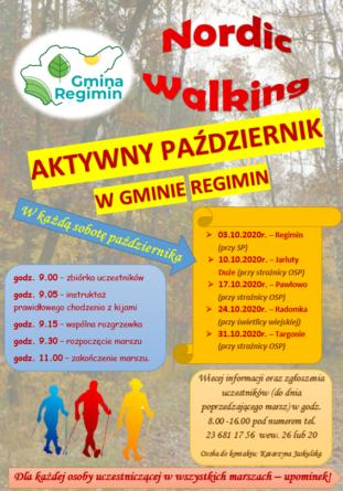 Aktywny pa藕dziernik w gminie Regimin