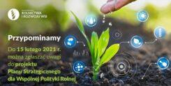 Konsultacje społeczne Planu Strategicznego nowej WPR do 15 lutego