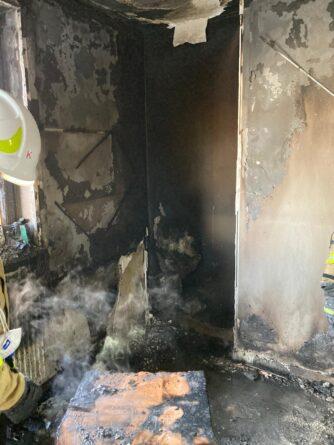 Pożar pomieszczenia biurowego