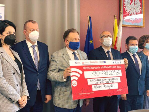 Ponad 130 mln zł dla powiatu przasnyskiego na drogi wojewódzkie