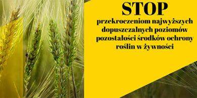 Stosowanie środków ochrony roślin tylko zgodnie z obowiązującymi normami i przepisami